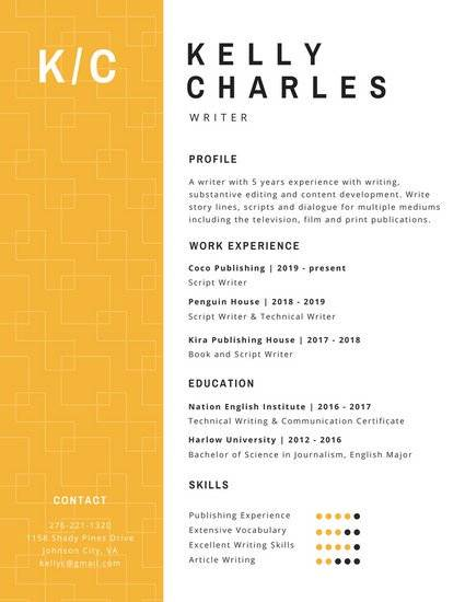 resume-templates-for-professionals